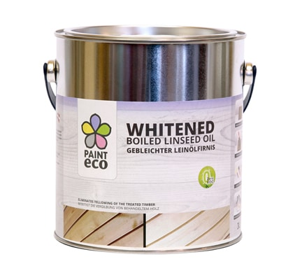 Whitened boiled linseed oil