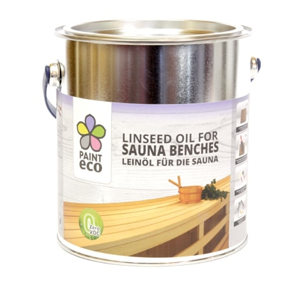 Linseed oil for Sauna benches
